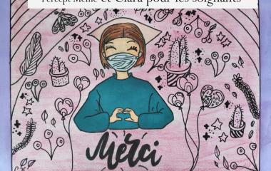 Initiative : des dessins d'enfants pour remercier les soignants