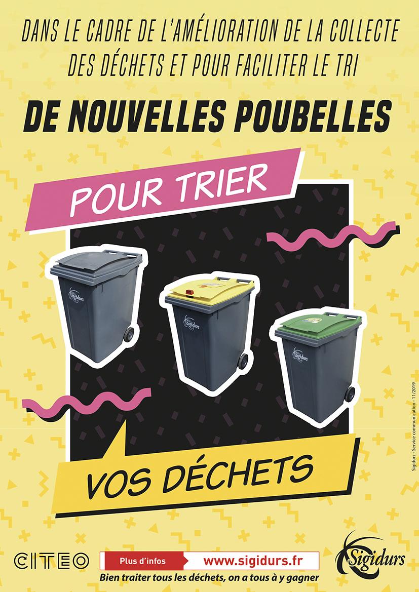 De nouveaux bacs pour vos déchets