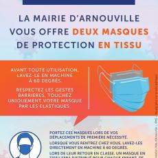 Masques de protection offerts par la ville